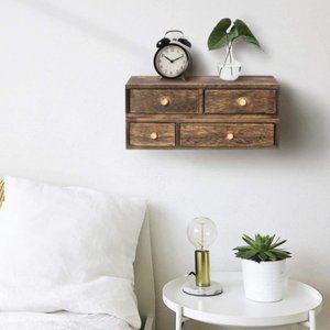 New Set of Rustic Wood Floating Shelves